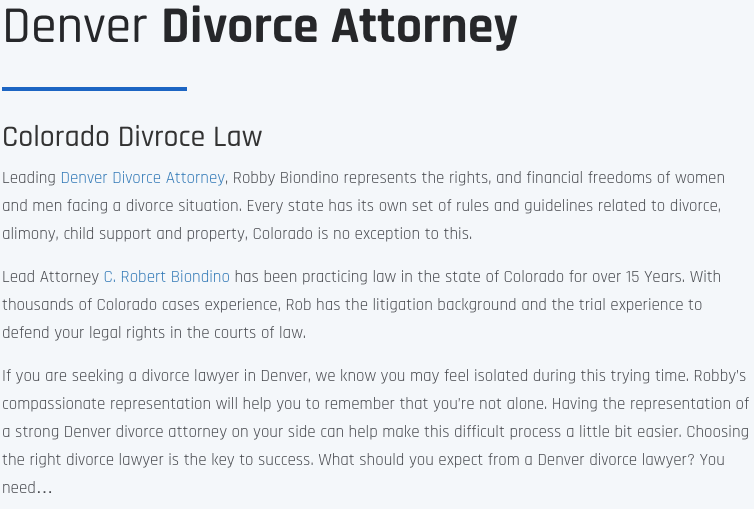 Alimony Lawyer Jefferson County, CO